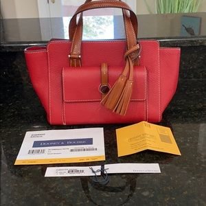Small Red Dooney & Bourke Shopper Satchel
